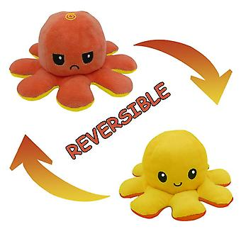 Original Double-sided Two-color Flip Octopus Plush Toys, Mini Plush Toys With Vivid Expressions