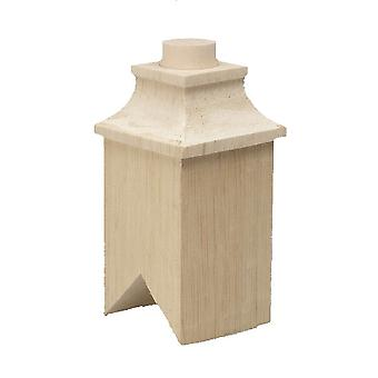 Dolls House Square Chimney Wooden Diy Builders Miniature 1:12 Scale