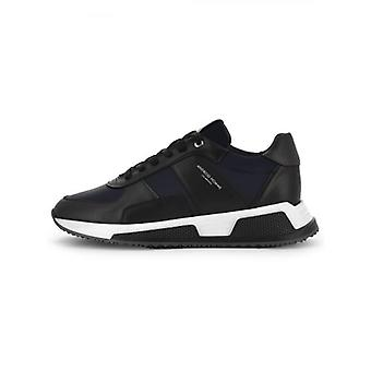 Android Homme Black Ink Leather Nylon Matador Sneaker