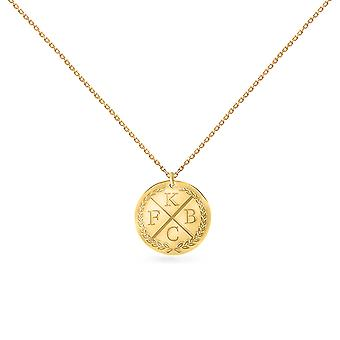 Collier Medal 4 Letters 18K Gold - Or Jaune