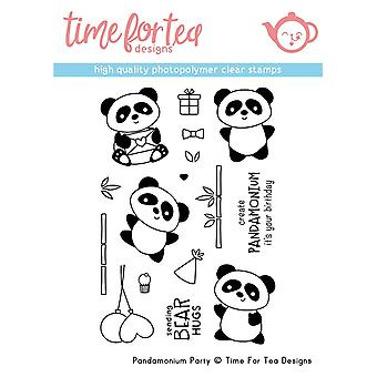Time For Tea Pandamonium Party Clear Stamps