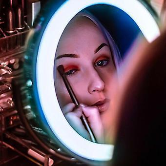 led opplyst makeup speil og sterk sugekopp