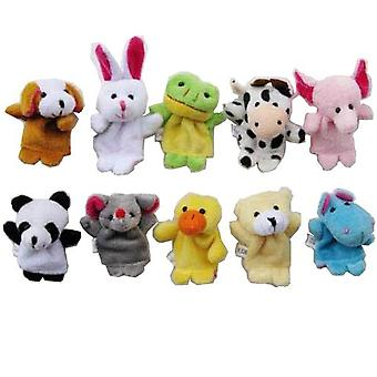 TRIXES 10 Assorted Baby Animal Finger Puppets