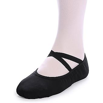 Bezioner Girls Canvas Balet Pantofi Balet Papuci pentru copii femei, Pantofi Yoga f...