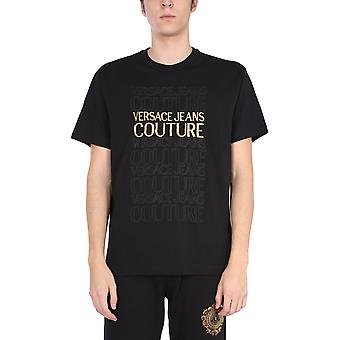 Versace Jeans Couture B3gwa7tk30454k42 Heren's Zwart Katoen T-shirt
