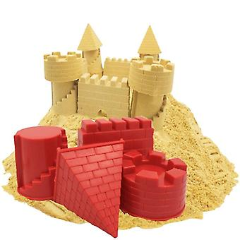 Creative Animal Pyramid Castle Sand Mold Diy Summer Beach Tool Set  (red)