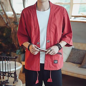 Japansk Kimonos Top Coat Cosplay Kostume Print asiatiske Clothe