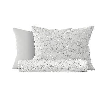 Parure Bettbezug Mandy Farbe weiß, Baumwolle grau, L150xP200 cm, L50xP80 cm