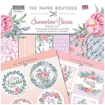 The Paper Boutique - Summertime Blooms Collection - 8x8 Paper Kit