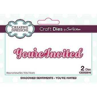 Creative Expressions Shadowed Collection Cutting Dies - You're Invited