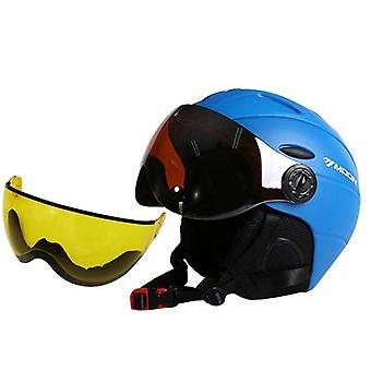 Caschi uomo-donna per sport all'aria aperta come sci, snowboard con occhiali