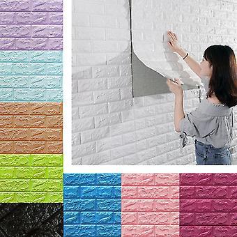 70*77cm Brick Wall Stickers Diy 3d Pe Foam Wallpaper Panels Room Decal Stone