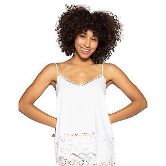 Cyberjammies Leah 4837 Dames's Wit Geborduurde Cami Pyjama Top