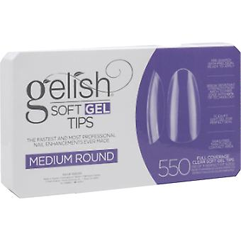 Gelish Soft Gel False Nail Tips - Medium Round (Pack Of 550 & 11 Sizes) (1168095)