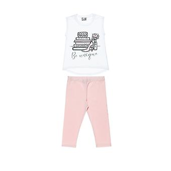 Alouette Girls' T-Shirt Set With Glitter And Tights