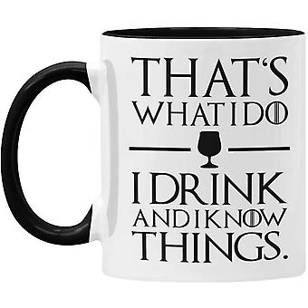 DZK I Drink and I Know Things 11oz Mug