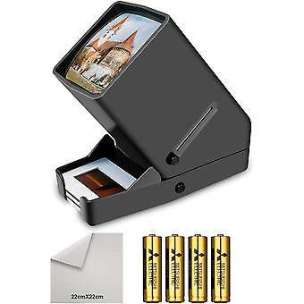 Tragbare LED Diabetrachter 35mm Negativ und Diaprojektor Dia-Betrachter mit 33fach vergrernder fr