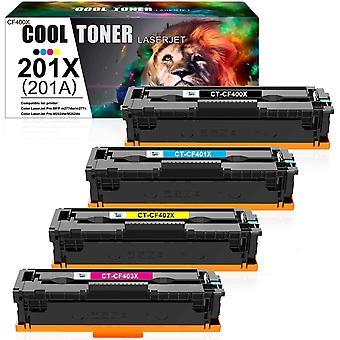 Cooler Toner Kompatibel Tonerkartusche Ersatz fr HP 201X 201A CF400X CF400A fr HP Color Laserjet