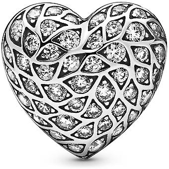 PANDORA Heart Sterling Silver Stud Earring With Clear Cubic Zirconia - 298568C01