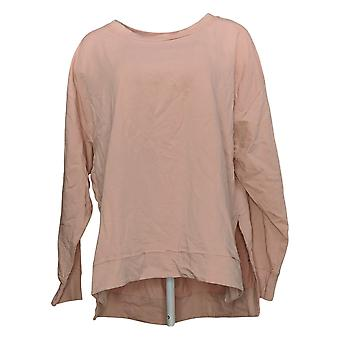 All Worthy Hunter McGrady Women's Top Side Slit Pull-Over Pink A392782