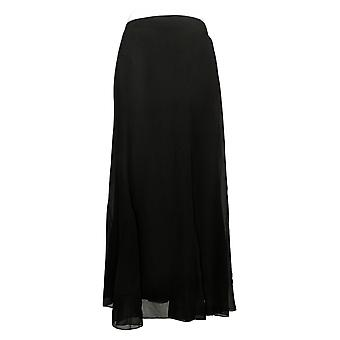 Antthony Skirt Medium Chiffon Overlay Printed Gore Black 716485