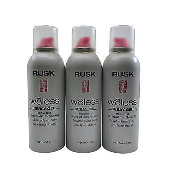 Rusk W8less Spray Gel Medium Hold 5.3 OZ Set of 3