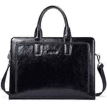 FengChun Leder Aktentaschen Herren/Damen 15.6 Zoll Laptoptaschen Businesstasche Schultertasche
