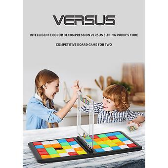 Intelligence board game vs rubik's cube interactive toy for children