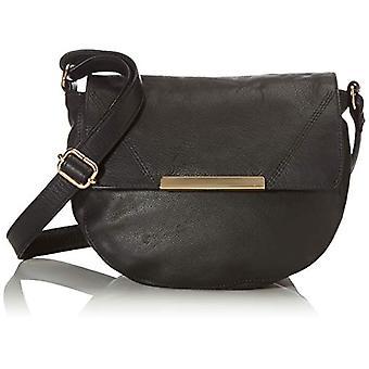 PIECES PCGALINA Leather Cross Body FC, Women's Folder Bag, Black, One Size