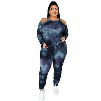 Casual Plus Size Vrouwen Tie-dye Trainingspakken