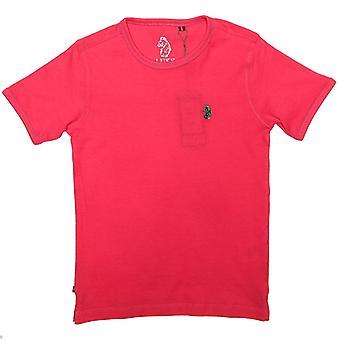 Boy's Luke 1977 Junior Trouser Snake Crew T-Shirt in roze