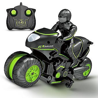 Niños motocicletas control remoto eléctrico carreras de coches juguetes para niños regalo de cumpleaños (verde)