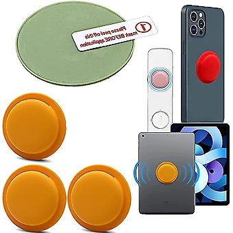 Yellow 3 pcs location tracker case adhesive protective cover for apple airtag cai301