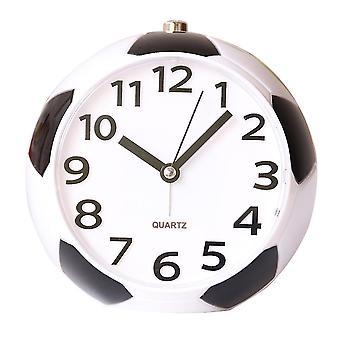 جديد شكل كرة القدم المنبه ليلة ضوء الحفل الحديث السرير الصغيرة المنبه ووتش ES1299
