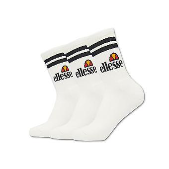 Ellesse Pullo Мужчины Спорт Мода Обучение Экипаж Носки белый (3 Pack)