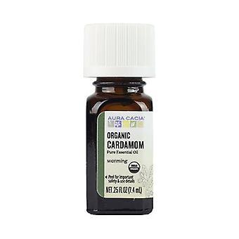 Aura Cacia Orgaaninen eteerinen öljy, Kardemumma .25Oz
