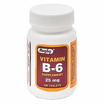 Rugby Vitamin Supplement Rugby Vitamin B6 25 mg Strength Tablet 100 per Bottle, 25mg, 100