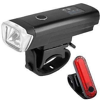Ladattava polkupyörän valon valaisin Monikäyttöinen taskulamppuvalosarja (musta)