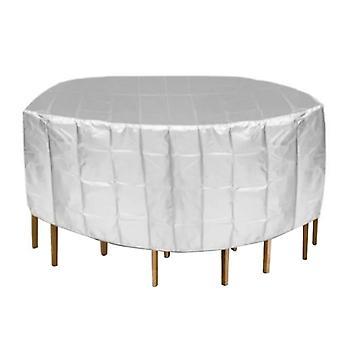 Runder Tisch Wasserdichte Abdeckung Outdoor Garten Terrasse Stuhl Schutzhülle