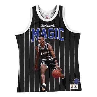 Mitchell & Ness Nba Orlando Magic Penny Hardaway MSTKSC19048OMABLCKPHA basketball hele året menn t-skjorte