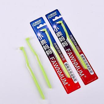 новый 1 шт мягкий нескользящий дюпон щетина чистка зубов зубной нить межзубной щеткой sm62250