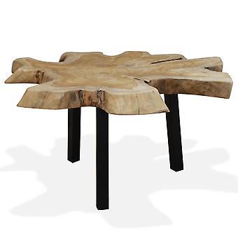 vidaXL soffbord äkta trä 80 x 70 x 38 cm