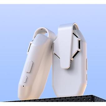 Clip op masker ventilator koeling USB oplaadbare draagbare elektrische ventilator mute luchtkoeler wit voor buiten
