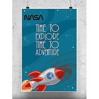 Rocket, Time To Poster - NASA Designs