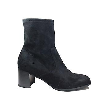 Caprice 25305 044 Black Microfibre Stretch Womens Heeled Ankle Boots