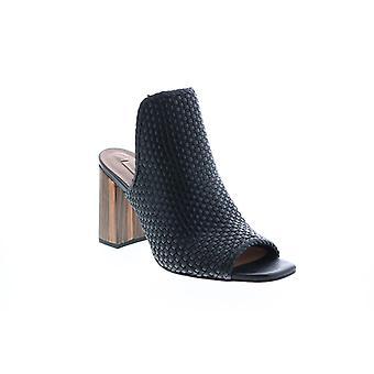 BCBG Max Azria Adult Womens Fabianna Woven Nappa Leather Mules Heels