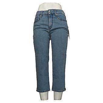 NYDJ Kvinner's Jeans Cool Embrace Skinny Crop med Side Åpninger Blå A377691