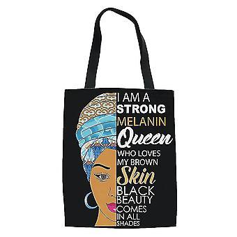Africana girls grocery bolso bolso mujeres's bolsa de compras lienzo
