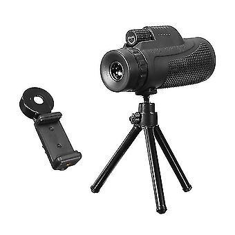40x60 망원경 렌즈 삼각대 휴대 전화 홀더와 망원경 여행 망원경
