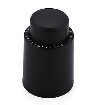 Wine stopper vacuum wine protector(4.7x7cm)(Black)